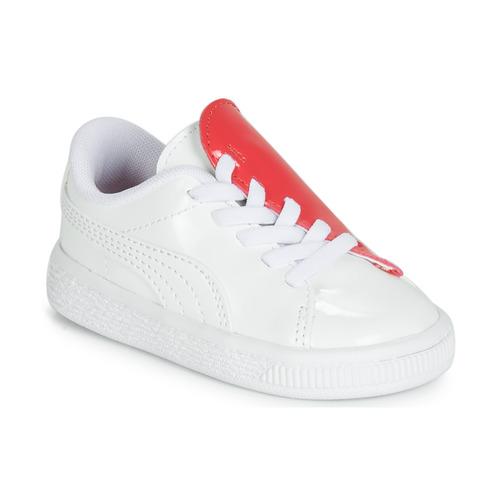 Obuća Djevojčica Niske tenisice Puma INF B CRUSH PATENT AC.W-H Bijela