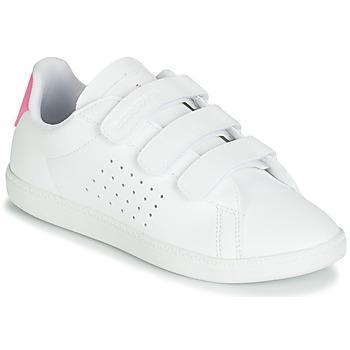 Obuća Djevojčica Niske tenisice Le Coq Sportif COURTSET PS Bijela / Ružičasta