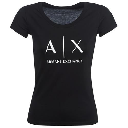 Odjeća Žene  Majice kratkih rukava Armani Exchange HELBATANTE Crna