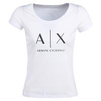 Odjeća Žene  Majice kratkih rukava Armani Exchange HELIAK Bijela