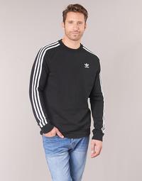 Odjeća Muškarci  Sportske majice adidas Originals 3 STRIPES CREW Crna