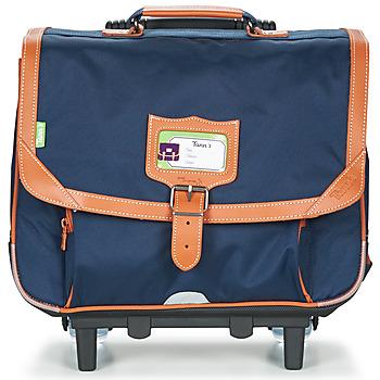 Torbe Dječak  (Školske) torbe s kotačićima Tann's CAMILLE TROLLEY CARTABLE Blue