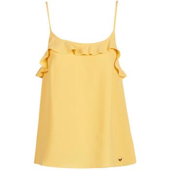 Odjeća Žene  Majice s naramenicama i majice bez rukava Les Petites Bombes AZITAFE Žuta