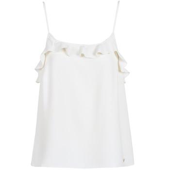 Odjeća Žene  Majice s naramenicama i majice bez rukava Les Petites Bombes AZITAFE Bijela