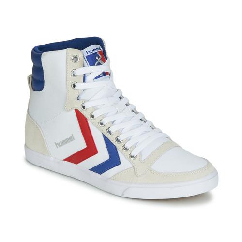 Obuća Muškarci  Visoke tenisice Hummel TEN STAR HIGH CANVAS Bijela / Blue / Red