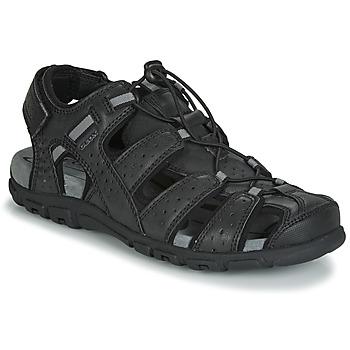 Obuća Muškarci  Sportske sandale Geox UOMO SANDAL STRADA Crna