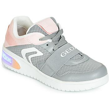 Obuća Djevojčica Visoke tenisice Geox J XLED GIRL Siva / Ružičasta / Led