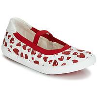 Obuća Djevojčica Balerinke i Mary Jane cipele Geox J KILWI GIRL Bijela / Red