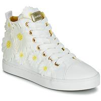 Obuća Djevojčica Visoke tenisice Geox JR CIAK GIRL Bijela / Cvjetni uzorak / Žuta