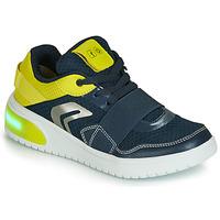 Obuća Dječak  Niske tenisice Geox J XLED BOY Blue / Žuta / Led