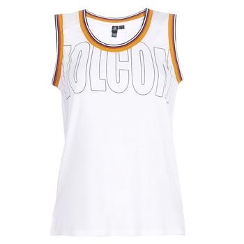 Odjeća Žene  Majice s naramenicama i majice bez rukava Volcom IVOL TANK Bijela