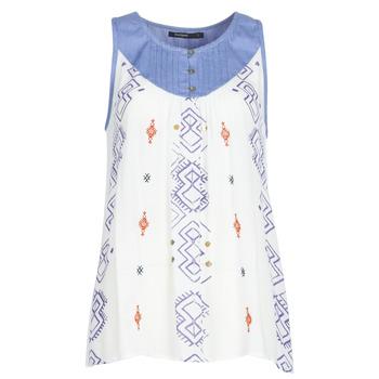 Odjeća Žene  Majice s naramenicama i majice bez rukava Desigual MEKANE Bijela / Blue
