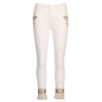 Odjeća Žene  Traperice ravnog kroja Desigual SARI WHITE Bijela