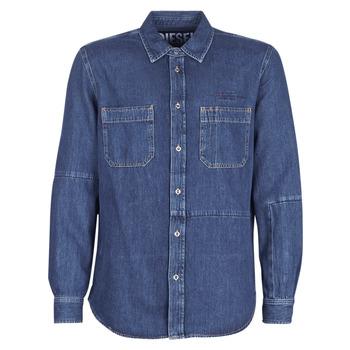 Odjeća Muškarci  Košulje dugih rukava Diesel D FRED Blue