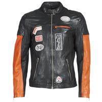 Odjeća Muškarci  Kožne i sintetičke jakne Oakwood INDIE Crna / Narančasta
