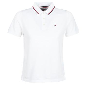 Odjeća Žene  Polo majice kratkih rukava Tommy Jeans TJW TOMMY CLASSICS POLO Bijela