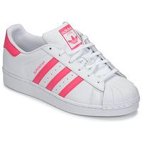 Obuća Djevojčica Niske tenisice adidas Originals SUPERSTAR J Bijela / Ružičasta