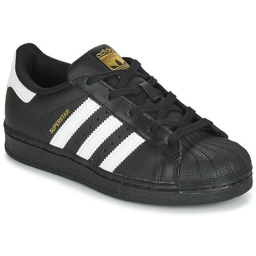 Obuća Djeca Niske tenisice adidas Originals SUPERSTAR C Crna / Bijela
