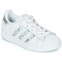 Obuća Djevojčica Niske tenisice adidas Originals SUPERSTAR C Bijela / Srebrna