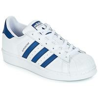 Obuća Djeca Niske tenisice adidas Originals SUPERSTAR J Bijela / Blue