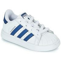 Obuća Djeca Niske tenisice adidas Originals SUPERSTAR EL Bijela / Blue