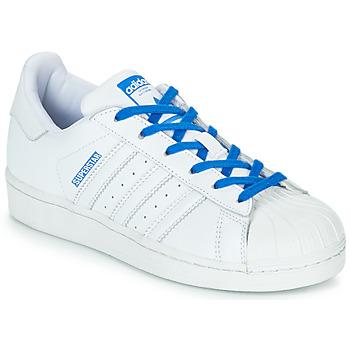 Obuća Djevojčica Niske tenisice adidas Originals SUPERSTAR J Bijela / Blue