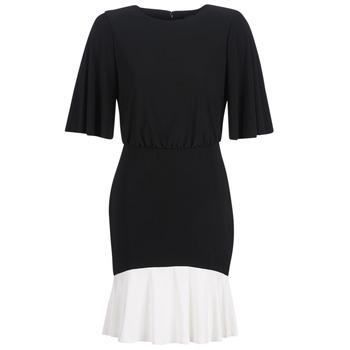 Odjeća Žene  Kratke haljine Lauren Ralph Lauren ELBOW SLEEVE DAY DRESS Crna / Bijela
