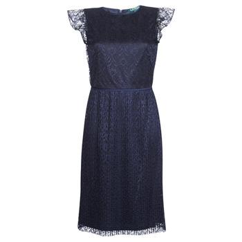 Odjeća Žene  Kratke haljine Lauren Ralph Lauren LACE CAP SLEEVE DRESS Blue