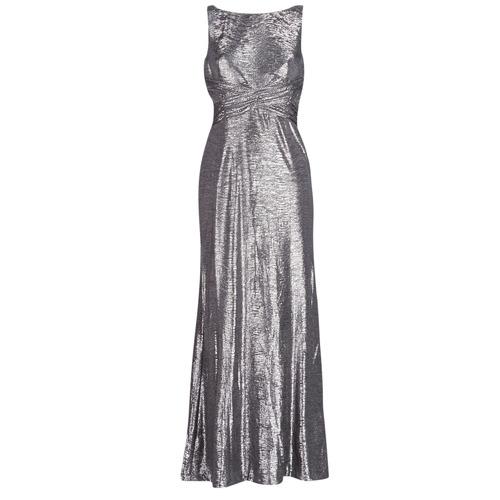Odjeća Žene  Duge haljine Lauren Ralph Lauren SLEEVELESS EVENING DRESS GUNMETAL Siva / Srebrna