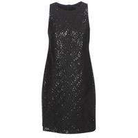 Odjeća Žene  Kratke haljine Lauren Ralph Lauren SEQUINED SLEEVELESS DRESS Crna