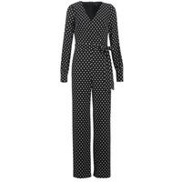 Odjeća Žene  Kombinezoni i tregerice Lauren Ralph Lauren POLKA DOT WIDE LEG JUMPSUIT Crna / Bijela