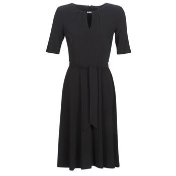 Odjeća Žene  Kratke haljine Lauren Ralph Lauren 3/4 SLEEVE  JERSEY DAY DRESS Crna