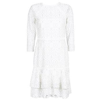 Odjeća Žene  Kratke haljine Lauren Ralph Lauren LONG SLEEVE-LACE DAY DRESS Bijela / Crna