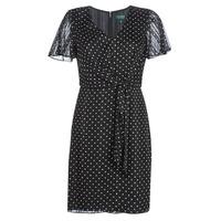 Odjeća Žene  Kratke haljine Lauren Ralph Lauren POLKA DOT-SHORT SLEEVE-DAY DRESS Crna