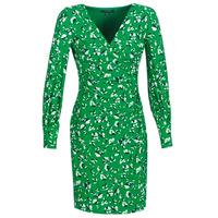 Odjeća Žene  Kratke haljine Lauren Ralph Lauren FLORAL PRINT-LONG SLEEVE-JERSEY DAY DRESS Zelena