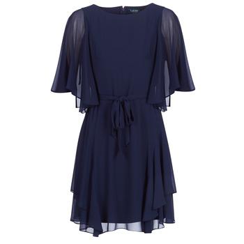 Odjeća Žene  Kratke haljine Lauren Ralph Lauren NAVY-3/4 SLEEVE-DAY DRESS Blue