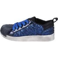 Obuća Djevojčica Niske tenisice Holalà sneakers blu glitter vernice BT330 Blu