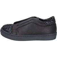 Obuća Djevojčica Slip-on cipele Holalà sneakers nero pelle glitter BT357 Nero