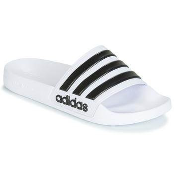 Obuća Sportske natikače adidas Performance ADILETTE SHOWER Bijela / Crna