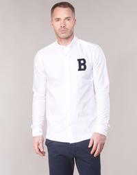 Odjeća Muškarci  Košulje dugih rukava Scotch & Soda REGULAR FIT AMS BLAUW OXFORD SHIRT WITH BADGE Bijela