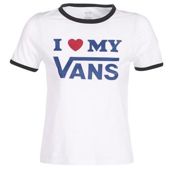 Odjeća Žene  Majice kratkih rukava Vans VANS LOVE RINGER Bijela