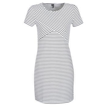 Odjeća Žene  Kratke haljine Vero Moda VMVIGGA Bijela / Crna