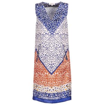 Odjeća Žene  Kratke haljine Derhy FORTERESSE Bijela / Blue / Narančasta