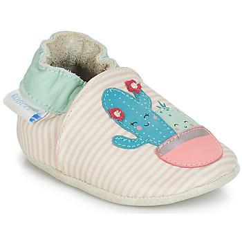 Obuća Djevojčica Papuče za bebe Robeez CACTUS Krémově bílá / Ružičasta