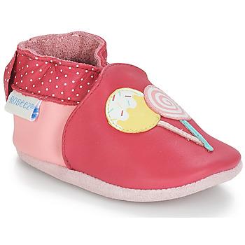 Obuća Djevojčica Papuče za bebe Robeez FUNNY SWEETS Ružičasta / Bijela