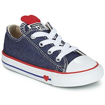 Obuća Djevojčica Niske tenisice Converse CHUCK TAYLOR ALL STAR SUCKER FOR LOVE DENIM OX Blue