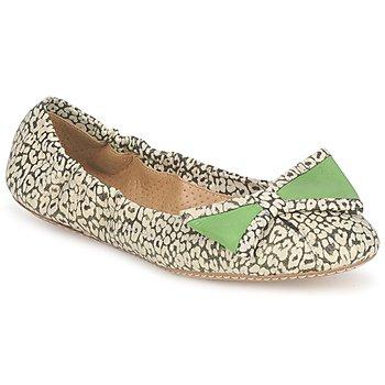 Obuća Žene  Balerinke i Mary Jane cipele Maloles BLANCHE Crna / Bijela / Zelena