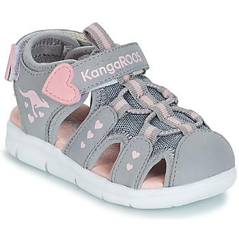 Obuća Djevojčica Sandale i polusandale Kangaroos K-MINI Siva / Ružičasta