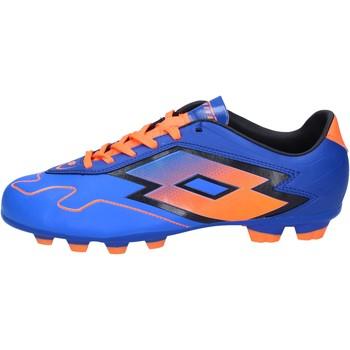 Obuća Muškarci  Nogomet Lotto sneakers da calcio blu pelle arancione BT586 Blu