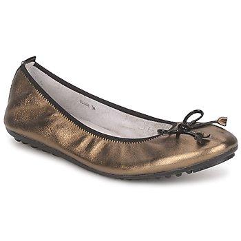 Obuća Žene  Balerinke i Mary Jane cipele Mac Douglas ELIANE Bronzová / Crna